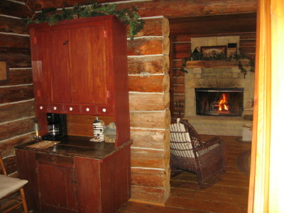 Country vacation with wood burning fireplace